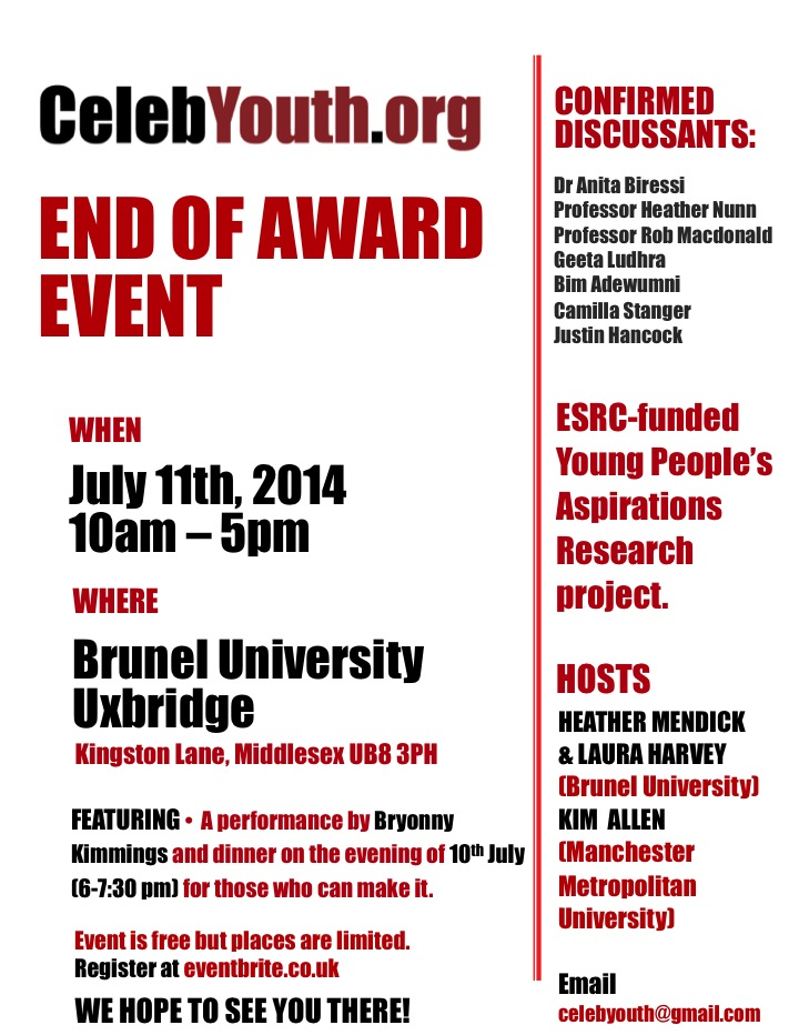 End of Award Event poster