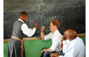 Harry in a school
