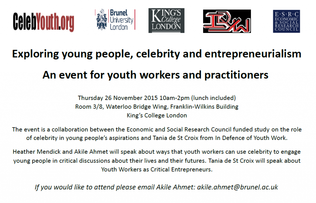 Youth Work Event Poster